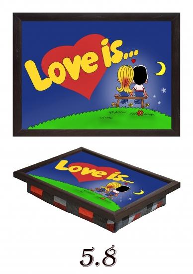 Фото - Мини поднос на подушке Love is... купить в киеве на подарок, цена, отзывы
