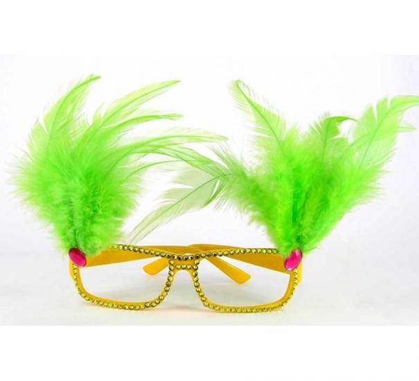 Фото - Очки - гламур с перьями купить в киеве на подарок, цена, отзывы