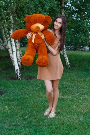 Фото - Мишка Тедди 80 см коричневый купить в киеве на подарок, цена, отзывы