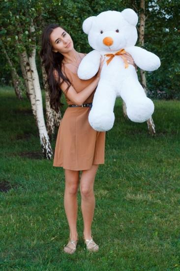 Фото - Мишка Тедди 100 см Белый купить в киеве на подарок, цена, отзывы
