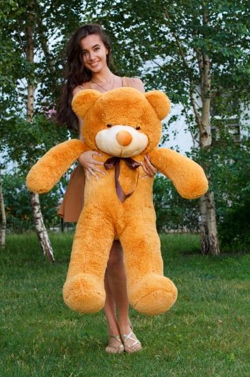 Фото - Мишка Тедди 120 см Кремовый купить в киеве на подарок, цена, отзывы