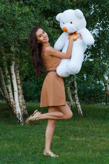 Фото - Мишка Тедди 80 см Белый купить в киеве на подарок, цена, отзывы