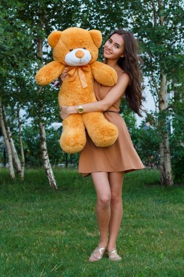 Фото - Мишка Тедди 80 см Кремовый купить в киеве на подарок, цена, отзывы