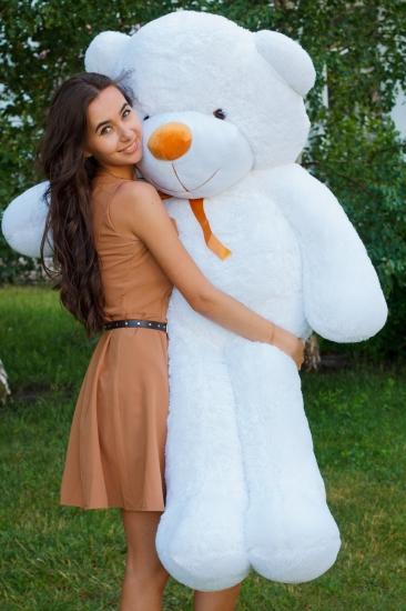 Фото - Мишка Тедди 160 см Белый купить в киеве на подарок, цена, отзывы