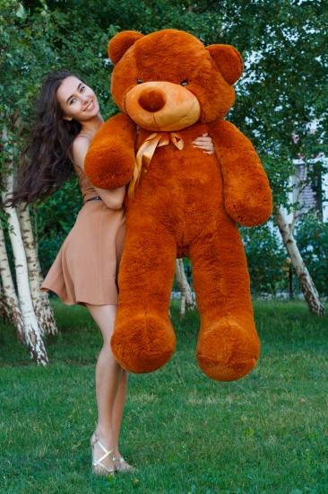 Фото - Мишка Тедди 160 см Коричневый купить в киеве на подарок, цена, отзывы
