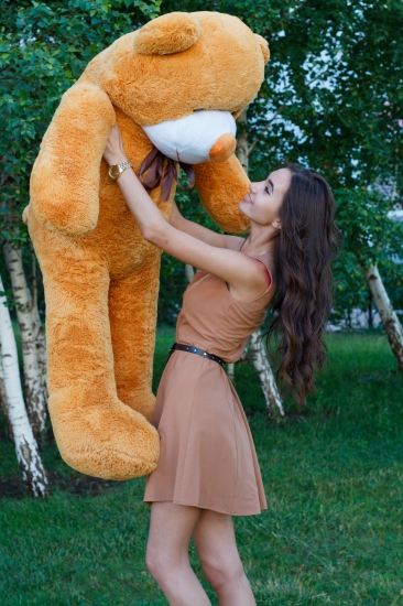 Фото - Мишка Тедди 160 см Кремовый купить в киеве на подарок, цена, отзывы