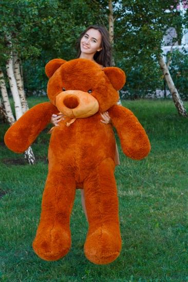 Фото - Мишка Тедди 180 см Коричневый купить в киеве на подарок, цена, отзывы