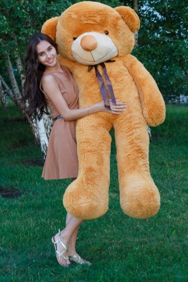 Фото - Мишка Тедди 180 см Кремовый купить в киеве на подарок, цена, отзывы