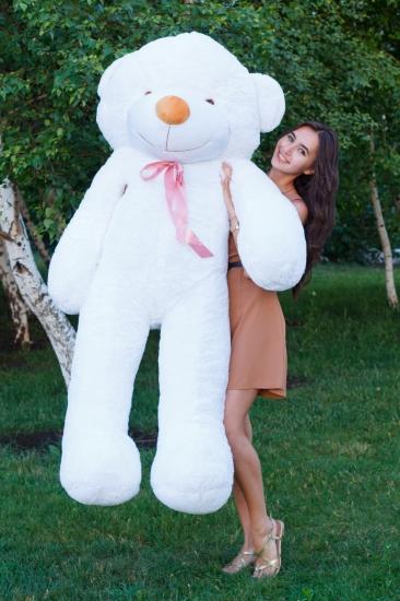 Фото - Мишка Тедди 200 см Белый купить в киеве на подарок, цена, отзывы