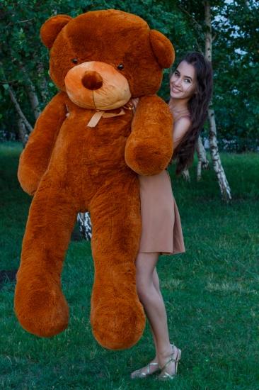 Фото - Мишка Тедди 200 см Коричневый купить в киеве на подарок, цена, отзывы