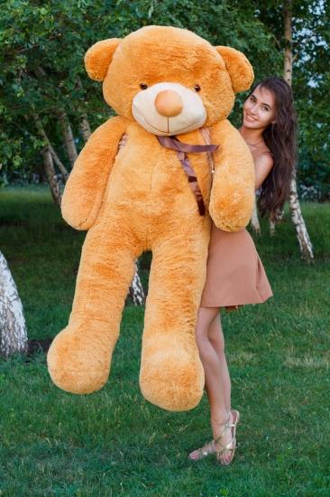 Фото - Мишка Тедди 200 см Кремовый купить в киеве на подарок, цена, отзывы