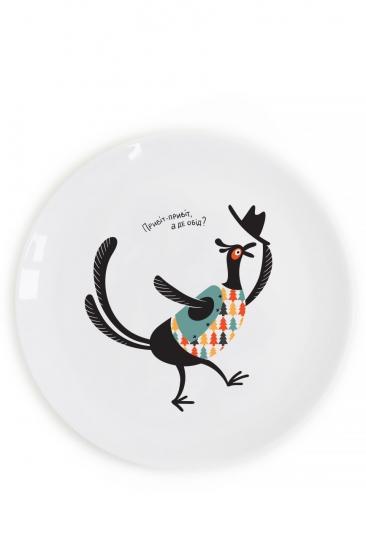 Фото - Тарелка Голодный фазан купить в киеве на подарок, цена, отзывы