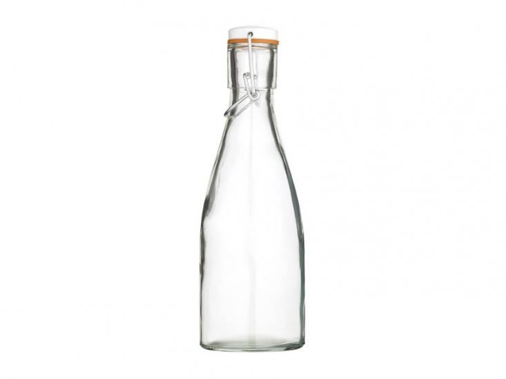 Фото - HM Бутылка стеклянная с керамической пробкой и зажимом 450 мл (23,5 см) купить в киеве на подарок, цена, отзывы