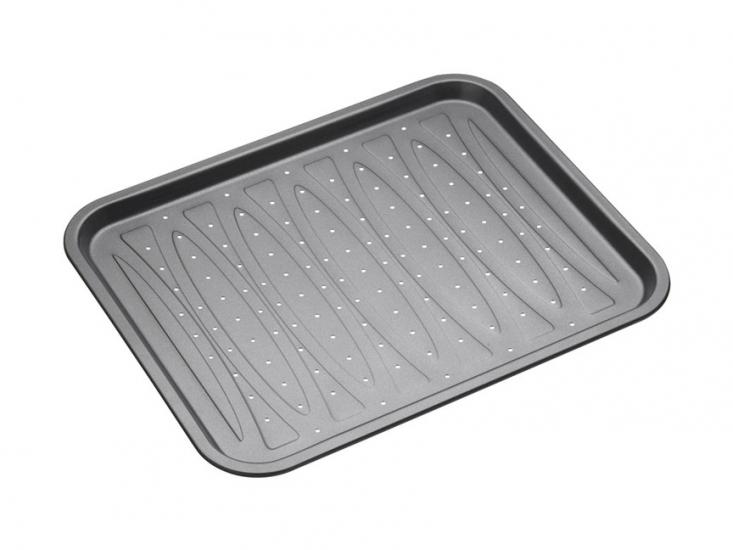 Фото - МC NS Противень для чипсов с отверстиями с антипригарным покрытием круглый 39см х 31,5см купить в киеве на подарок, цена, отзывы