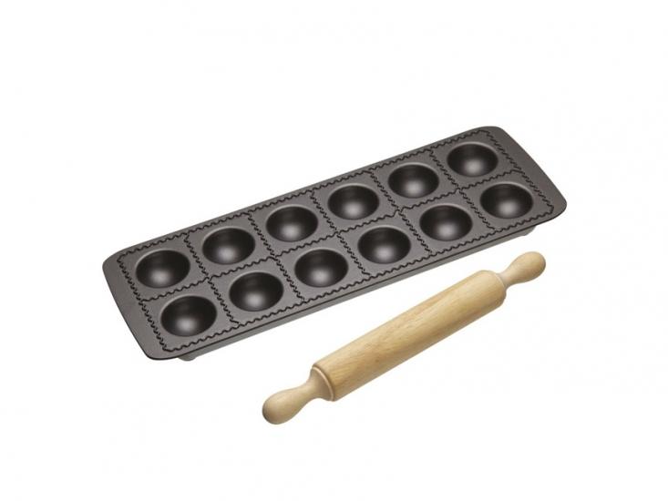 Фото - WFIT Форма для равиоли с антипригарным покрытием (и деревянной качалкой) купить в киеве на подарок, цена, отзывы