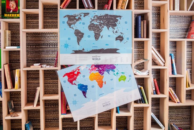 Фото - Скретч карта мира Travel Maps Silver купить в киеве на подарок, цена, отзывы