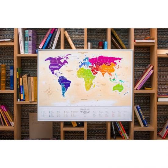 Фото - Скретч карта мира Travel Maps Gold купить в киеве на подарок, цена, отзывы