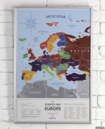 Фото - Скретч карта Европы Travel Maps Silver купить в киеве на подарок, цена, отзывы