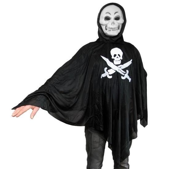Фото - Взрослый карнавальный плащ Роджер с маской купить в киеве на подарок, цена, отзывы