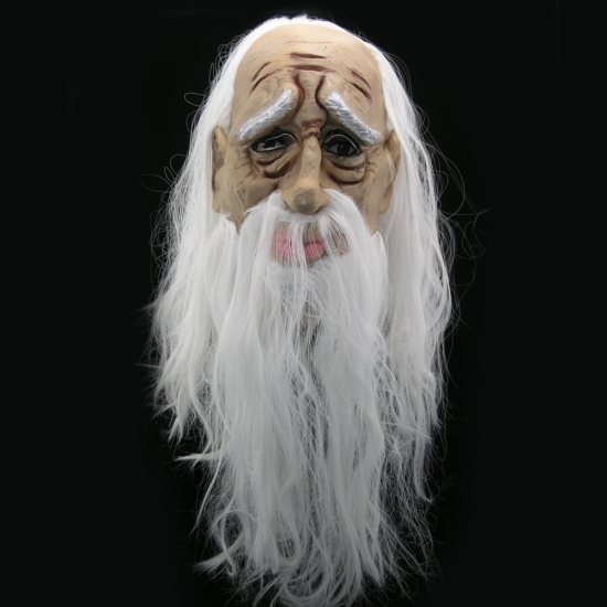 Фото - Латексная маска Старик с волосами купить в киеве на подарок, цена, отзывы