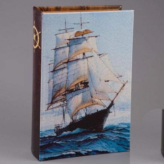Фото - Книга сейф Бригантина 26 см купить в киеве на подарок, цена, отзывы