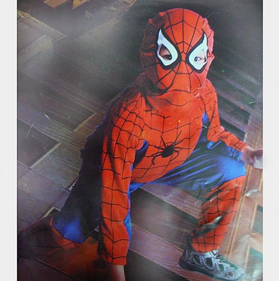 Фото - Детский карнавальный костюм Спайдермен синий купить в киеве на подарок, цена, отзывы