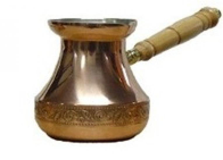Фото - Турка медная цельнокатанная Джаз орнамент 320  купить в киеве на подарок, цена, отзывы