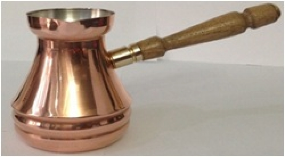 Фото - Турка медная цельнокатанная Джаз 600 мл купить в киеве на подарок, цена, отзывы