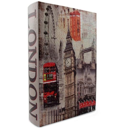 Фото - Книга-сейф Кожаная большая Лондон 33 см купить в киеве на подарок, цена, отзывы