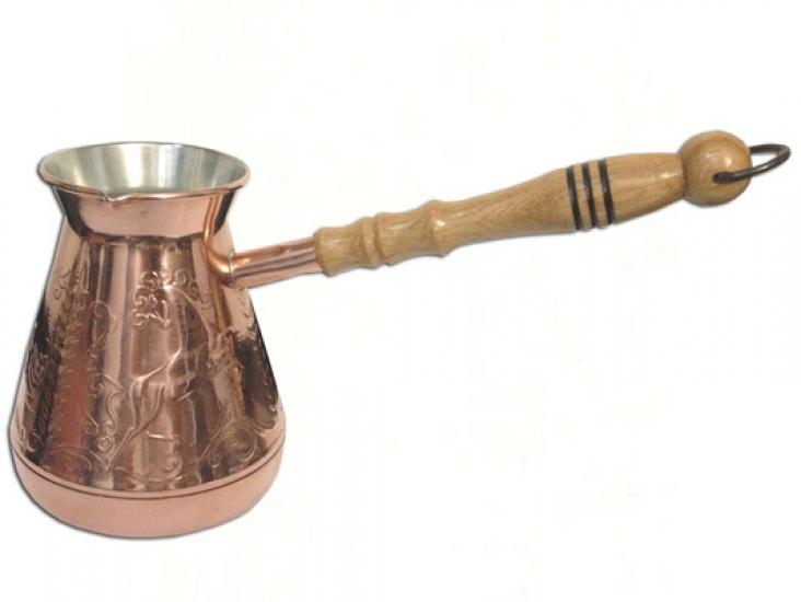 Фото - Турка медная Мустанг золото 500 лм купить в киеве на подарок, цена, отзывы