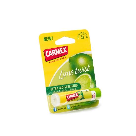 Фото - Бальзам для губ Carmex Lip Balm Stick Sunscreen SPF 15 Lime Twist 4.25 г  купить в киеве на подарок, цена, отзывы