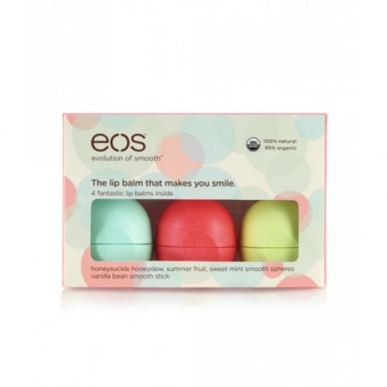 Фото - Набор бальзамов для губ EOS Smooth Lip Balm 4-Pack  купить в киеве на подарок, цена, отзывы