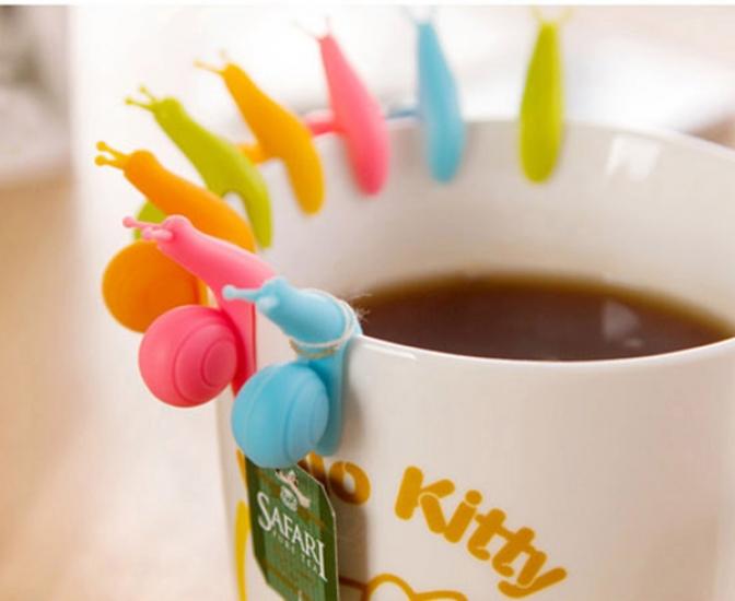 Фото - Улитка держатель пакетиков для чая 5шт. купить в киеве на подарок, цена, отзывы