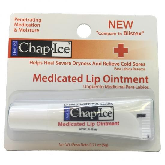 Фото - Бальзам лечебный OraLabs Chap Ice Lip Medicated Lip Ointment 6 г купить в киеве на подарок, цена, отзывы