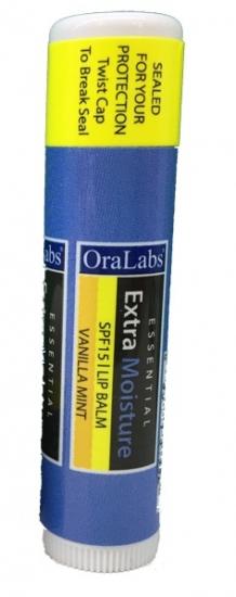 Фото - Бальзам OraLabs Essential Extra Moisture Lip Balm Vanilla Mint 4,25 г (Ванильная мята) купить в киеве на подарок, цена, отзывы