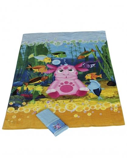 Фото - Комплект из двух махровых полотенец Лунтик (35х70; 100х150) купить в киеве на подарок, цена, отзывы