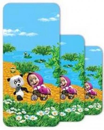 Фото - Полотенце детское махровое Маша и Медведь 110х140 см купить в киеве на подарок, цена, отзывы