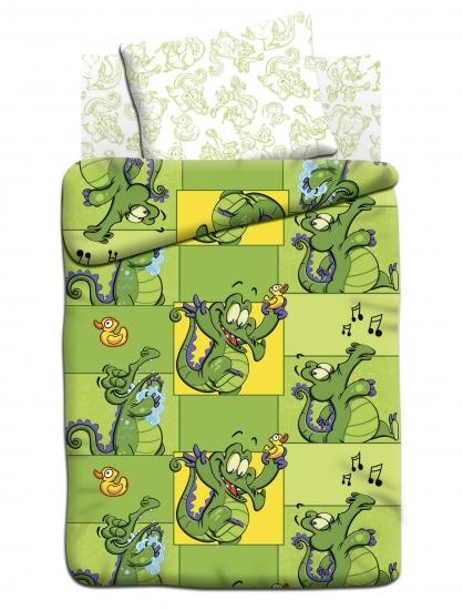 Фото - Постельное белье детское полуторное Непоседа Крокодильчик Свомпи купить в киеве на подарок, цена, отзывы