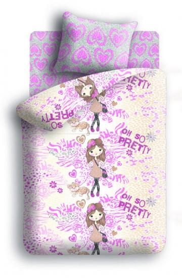 Фото - Постельное белье детское полуторное Колыбельная мечты Девочка и леопард купить в киеве на подарок, цена, отзывы