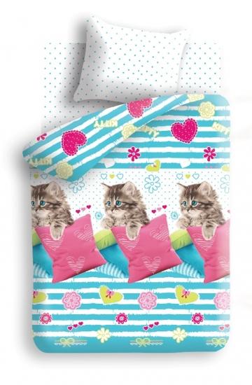 Фото - Постельное белье детское полуторное Колыбельная мечты Котик купить в киеве на подарок, цена, отзывы