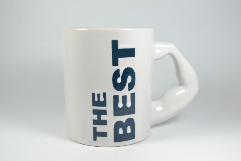 Фото - Чашка белая The Best  купить в киеве на подарок, цена, отзывы