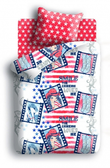 Фото - Комплект постельного белья полуторный For You Ковбойка купить в киеве на подарок, цена, отзывы