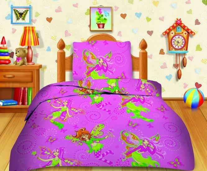 Фото - Комплект постельного белья полуторный Кошки-мышки Феечки купить в киеве на подарок, цена, отзывы