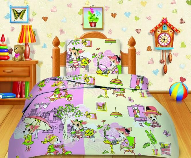 Фото - Комплект постельного белья полуторный Кошки-мышки Яркий день купить в киеве на подарок, цена, отзывы