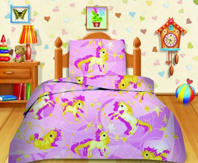 Фото - Комплект постельного белья полуторный Кошки-мышки Лошадки купить в киеве на подарок, цена, отзывы