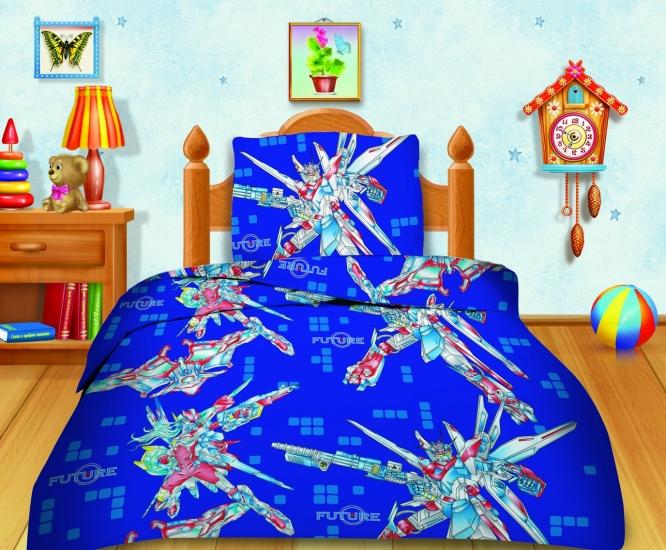 Фото - Комплект постельного белья полуторный Кошки-мышки Трансформеры купить в киеве на подарок, цена, отзывы