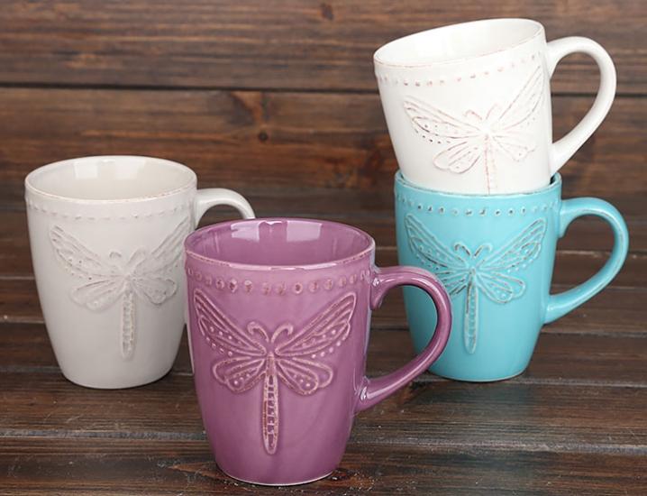 Фото - Чашка керамическая Стрекоза купить в киеве на подарок, цена, отзывы