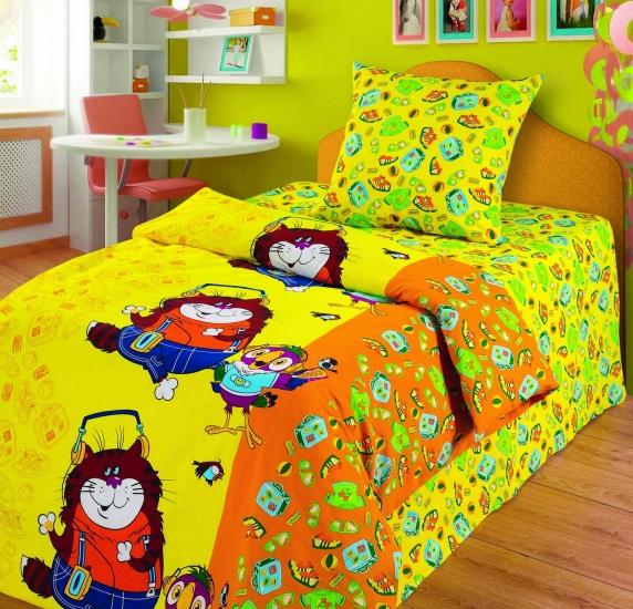 Фото - Комплект постельного белья полуторный Союзмультфильм Кеша и кот купить в киеве на подарок, цена, отзывы