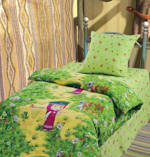 Фото - Комплект постельного белья полуторный Маша и Медведь На границе купить в киеве на подарок, цена, отзывы