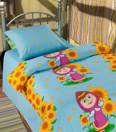 Фото - Комплект постельного белья полуторный Маша и Медведь Первая встреча купить в киеве на подарок, цена, отзывы